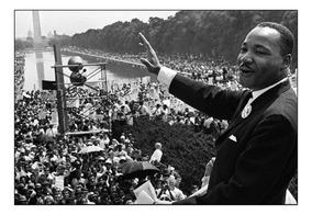 Quadro Martin Luther King Foto Histórica 42x29cm
