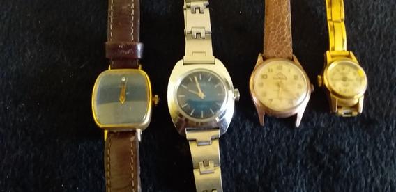 Lote 4 Relógios De Pulso Feminino A Corda