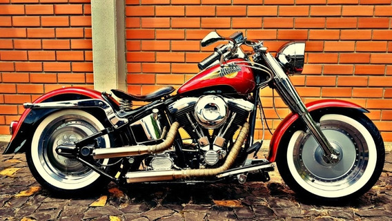 Harley Davidson Fat Boy 1994 1340cc Customizada E Exclusiva