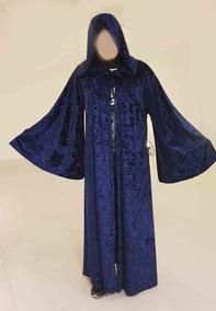 Fantasia Capa Azul Usada 1 Vez Inclui Lente