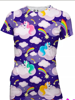Playera Sublimada Unicornios