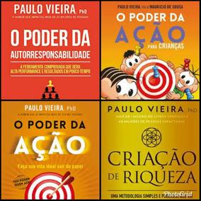 Kit Livros Paulo Vieira Poder Da Ação, Criação De Riqueza +2