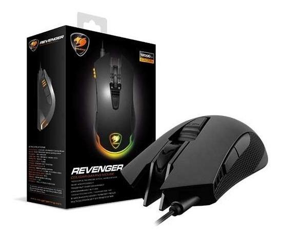 Mouse Gamer Cougar Revenger 12000 Dpi Led 6 Teclas + Brinde