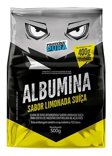 Imagem 1 de 2 de Albumina - Sabor Limonada Suíça - 500g - Proteina Pura