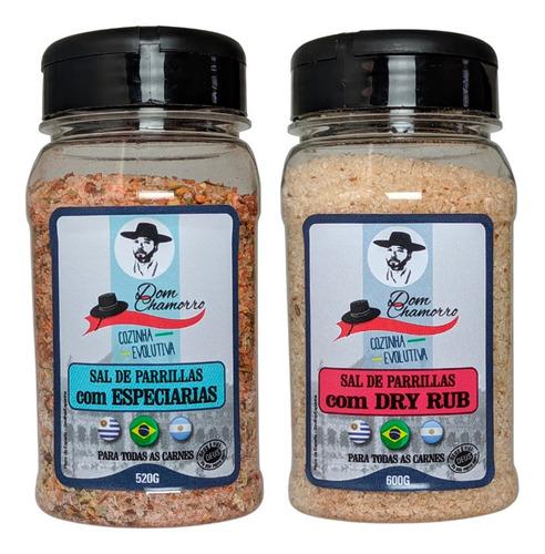 Imagem 1 de 5 de Kit Sal De Parrilla Especiarias E Dry Rub Dom Chamorro