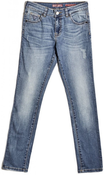 Jeans Guess Para Niño Skinny Fit Azul 100% Original Nuevo