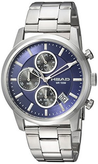 Head Mens Match Point Reloj Casual De Cuarzo De Acero Inoxid