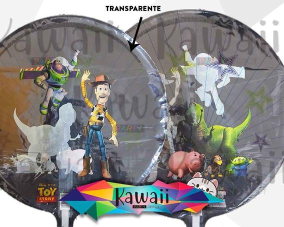 Globo Metálico Toy Story - Woody, Buzz, Rex - Helio - 45 Cm