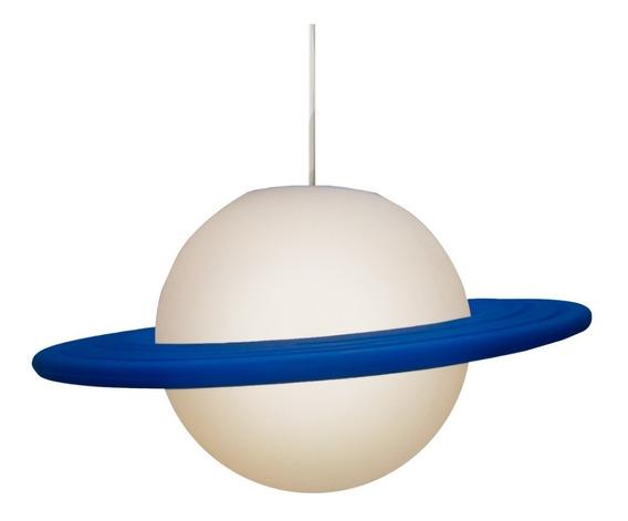 Pendente Quarto Infantil Luminária Planeta Saturno Promoção