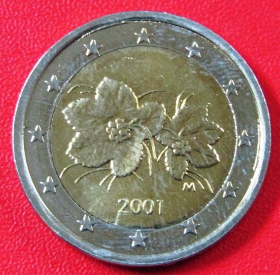 Finlandia Moneda Bimetalica 2 Euros 2001 Unc Km #105
