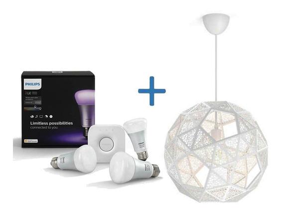 Philips Hue Kit De Inicio + Lampara Colgante Philips Dowlas