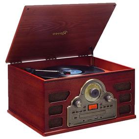 Toca Disco Vintage Bluetooth Reproduz E Grava Cd Player Usb