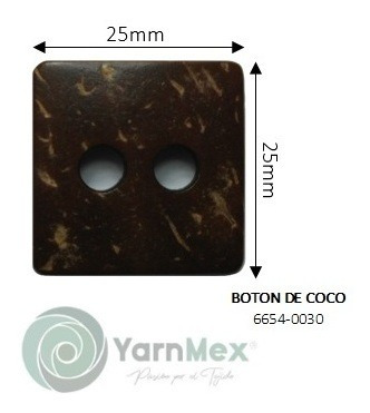 Botón De Coco | 6654-0030 - 10pzas