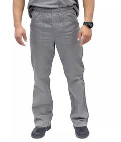 Calça Brim Uniforme Profissional Cinza Ou Azul Gratis