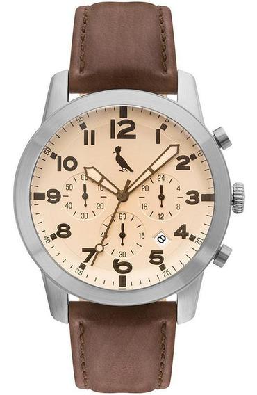 Relógio Reserva Masculino Cronógrafo - Rejp25ae - Cor Marrom