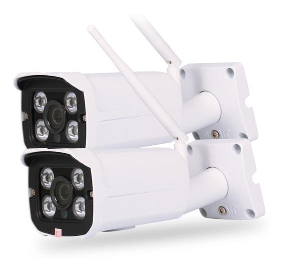Kit 2 Cameras Ip Sem Fio Wifi Externa A Prova Dágua Jortan