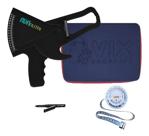 Adipômetro Plicomêtro Medidor De Gordura Corporal + Estojo