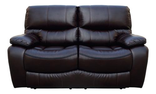 Sillon 2 Cuerpos Sofa Reclinable Living Comedor Marron Jon