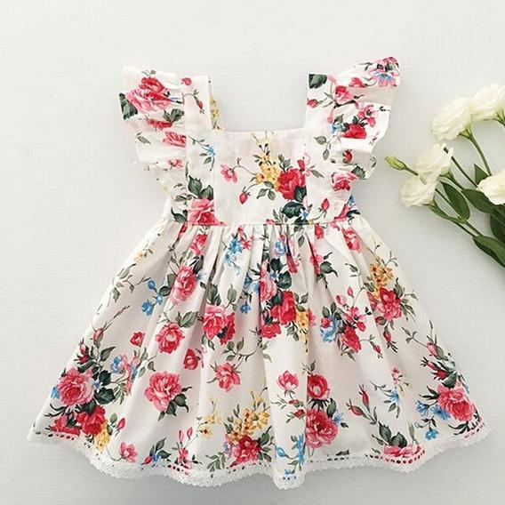 Vestido De Bebê Menina Florido Infantil Super Promoção