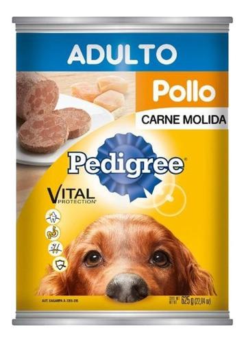 Imagen 1 de 1 de Alimento Para Perro Pedigree Adulto Molida Pollo Lata 625 Gr