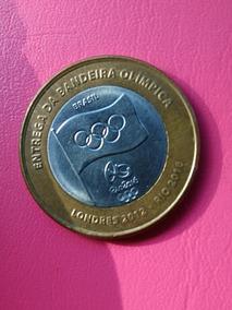 Moeda Olimpica Bandeira Rio 2016