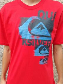 ad5457b8ca Camiseta Estampada Quiksilver Vermelha - Calçados, Roupas e Bolsas ...