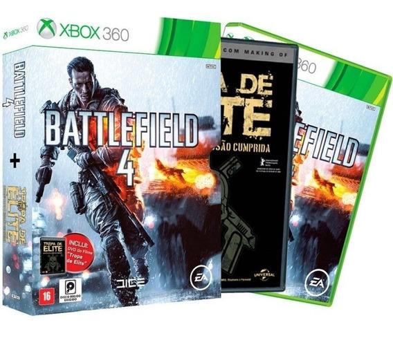 Battlefield 4 + Filme Tropa De Elite Xbox 360 Fisica Lacrado