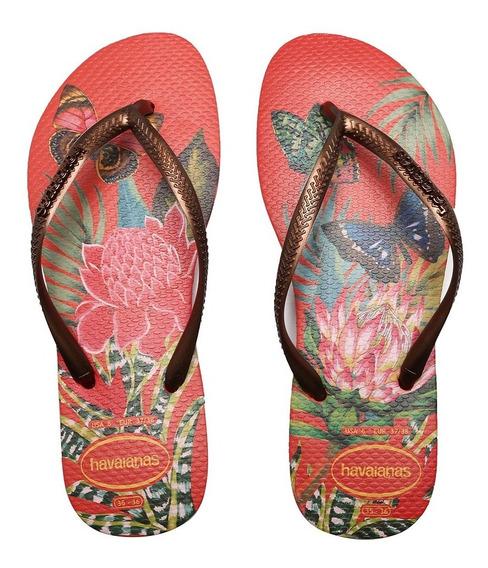 Sandálias Havaianas Slim Tropical Morango 4122111-2162