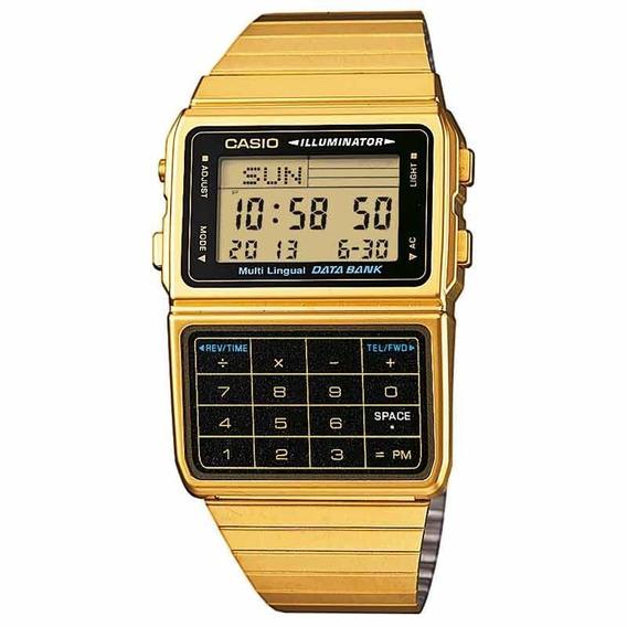 Relógio Casio Calculadora Dourado Dbc-611g-1df + Frete