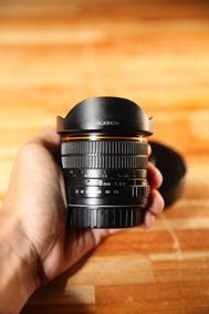 Lente Rokinon 8mm F/3.5 Ultra Grande Angular (para Canon)