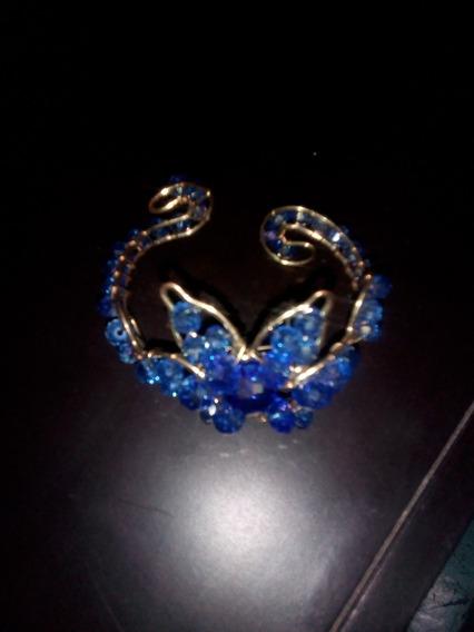 Brazalete En Cristal Azul
