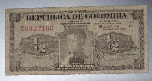 Imagen 1 de 2 de Billetes Colombiano Antiguo Lleritas