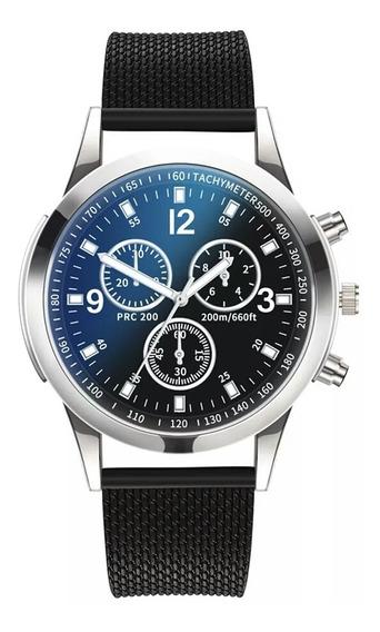 Relógio De Luxo Quartzo Aço Inoxidável Militar