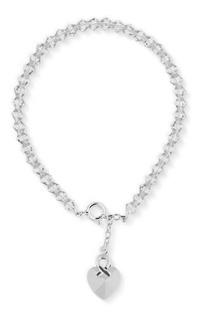 Pulsera Carmin Plata 925 Cristales Swarovski Car05 Blanco
