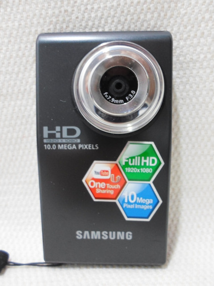 Câmera Digital Samsung Filmadora U10 Hmx-u10 Preta - Usada