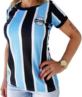 Baby Look Feminina Grêmio Original Oficial Modelo Tricolor