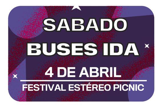 Bus Ida Sábado Festival Estéreo Picnic Carulla Alhambra