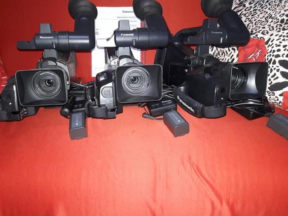 Kit C/ 3 Filmadoras Panasonic Agdcv20p C/ Bateria/carregador