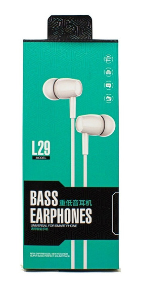 Audífonos Bass Earphones Blanco Barato Comodos 3.5 Mm Fh3