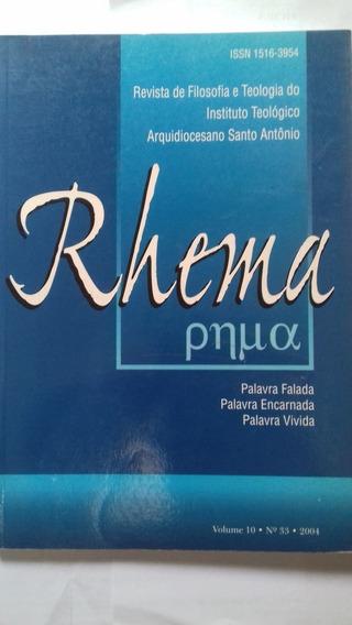 Rhema Revista De Filosofia E Teologia Do Instituto Teológ...