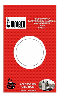 Borrachas Cafeteira Italiana 2 Xícaras Cj 3 Peças Bialetti