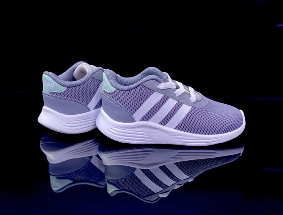 Tenis adidas Lite Racer 2.01-niños-gris-eg6969