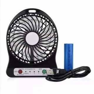 Mini Ventilador Portátil Recarregável Usb 3 Velocidades