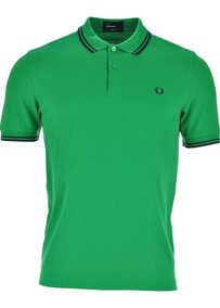 Fred Perry Polo M3600 Green Spring Y Purple Spring M