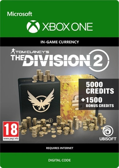 The Division 2 6500 Creditos -cartão 25 Dígitos Patch Xbox One