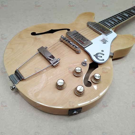 Guitarra Casino Semi Acústica EpiPhone Captador P90 Natural