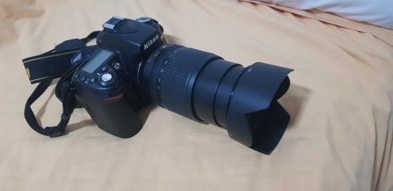 Câmera Dsl Nikon D90 Pouco Uso E Com Acessórios.