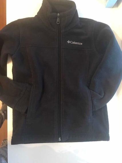 Cardigan Columbia Negro Unisex Xs 6 7 Años Invierno Abrigado