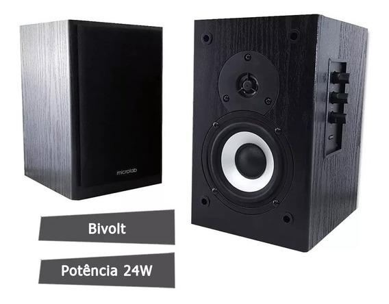 Monitor De Audio Caixa De Som Microlab Ativo B72 24w Rms 2.0