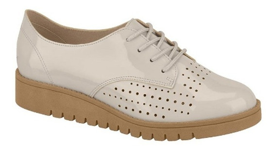 Zapatos Beira Rio Mocasines Mujer Oxfords Charol 4174 Rimini